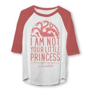 Game of Thrones Princess Raglan Sleeve t-shirt